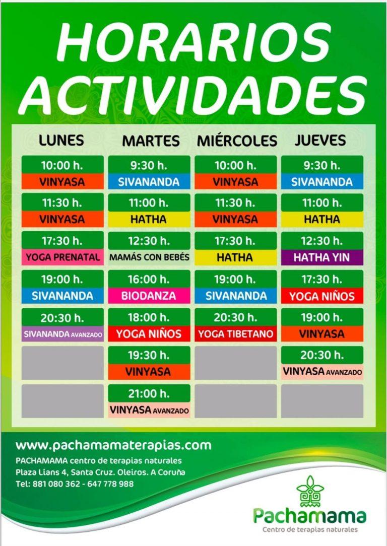 calendario de actividades en oleiros