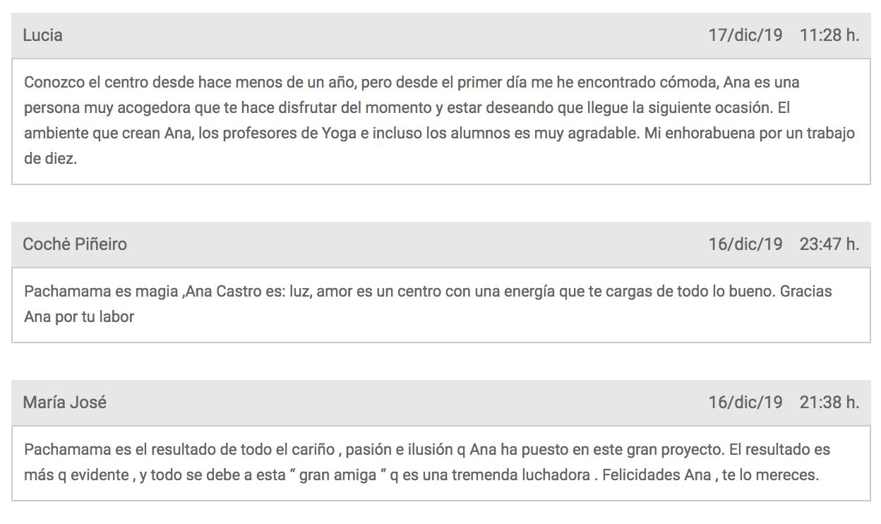 Opiniones de Pachamama